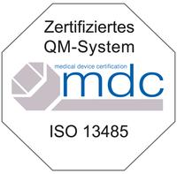 Sanitätshaus Pfänder Qualitätsmanagement Siegel ISO 13485