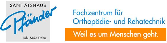 Logo Sanitätshaus Pfänder mit  Link zur Homeseite